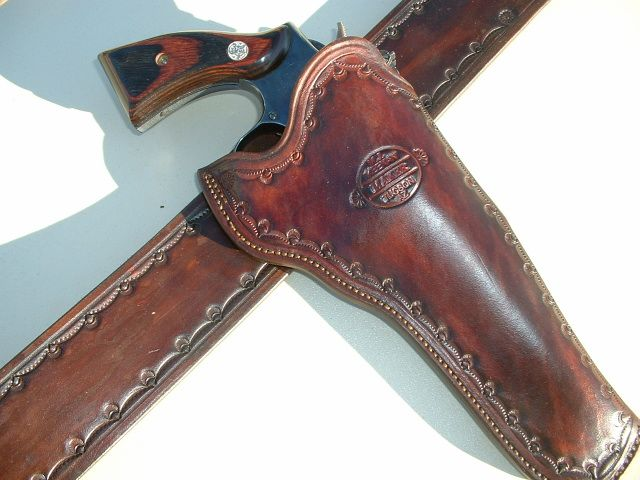 holster and belt for single six