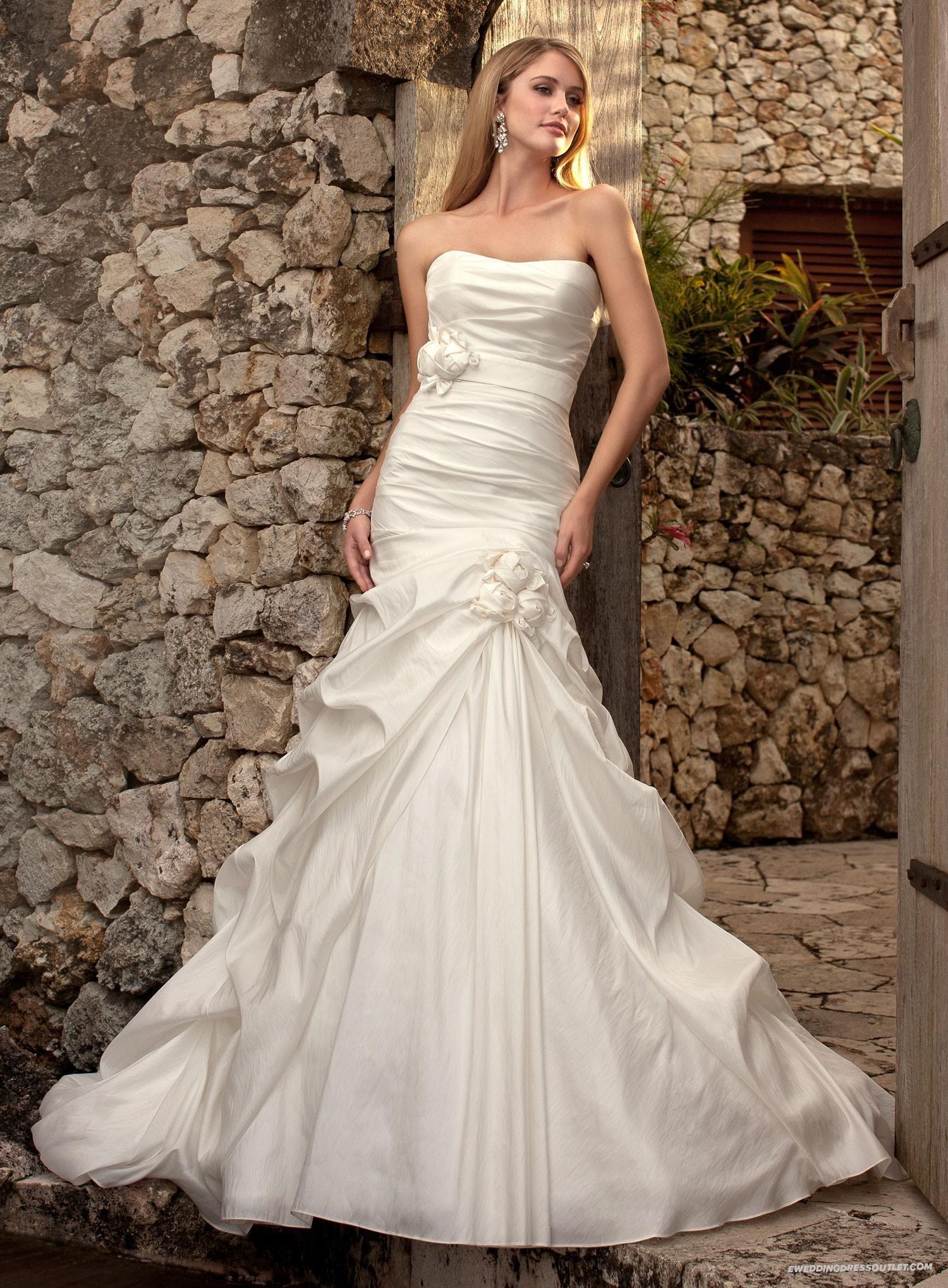 Einfache Sweetheart Elfenbein Taft Meerjungfrau Hochzeitskleid ...