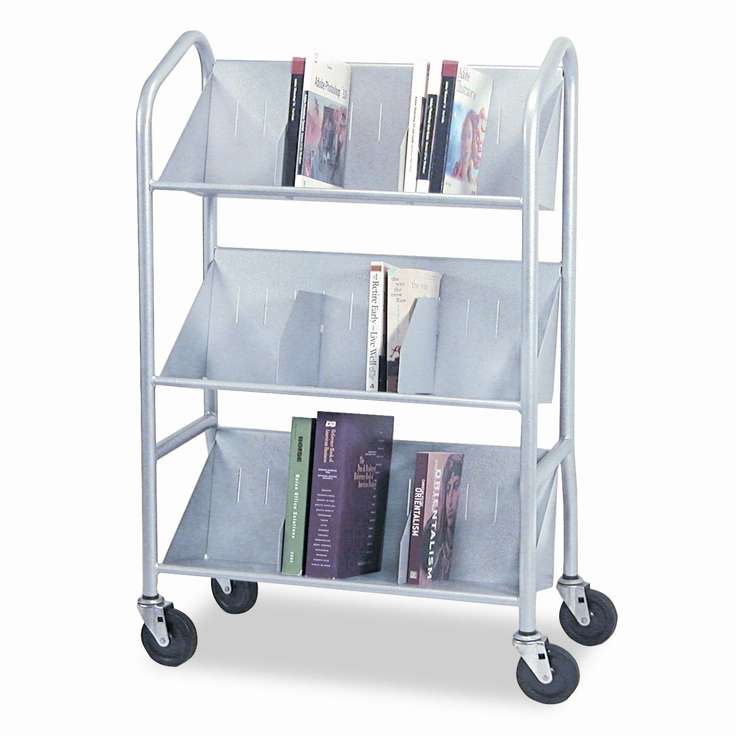 Sloped-Shelf Book Cart | Products | Pinterest | Products