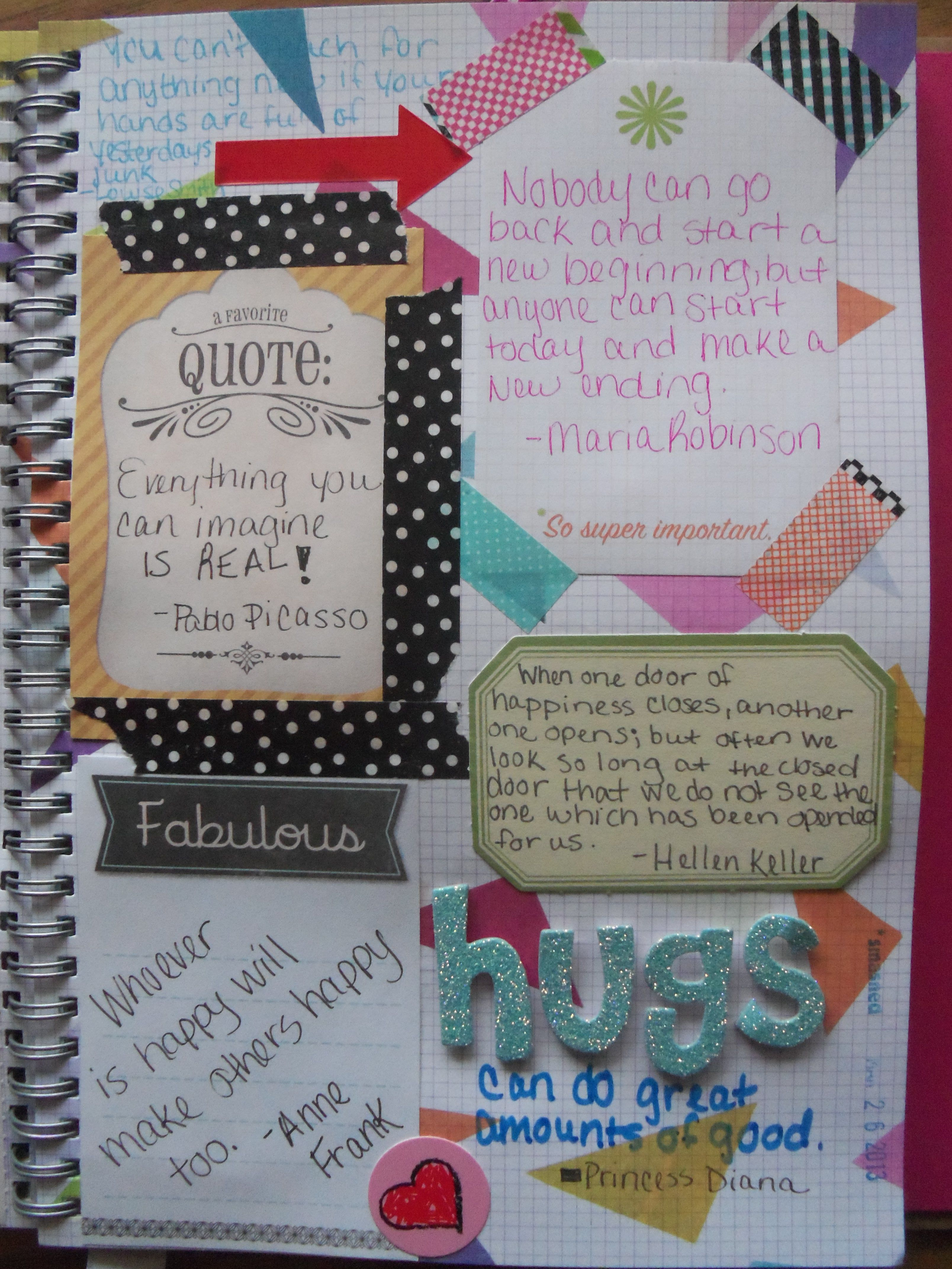 Scrapbook ideas and quotes - Smash Book Page Quotes