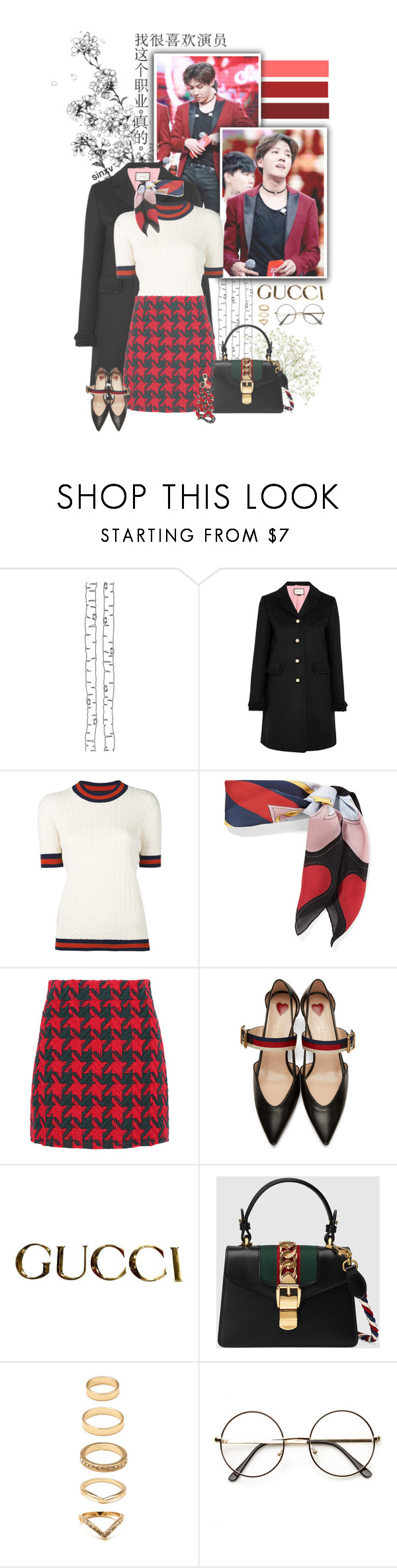 """""""Gucci this, Gucci that // 10:53 // 20170409"""" by sinxv ❤ liked on Polyvore featuring ferm LIVING, Gucci, Forever 21 and ZeroUV"""