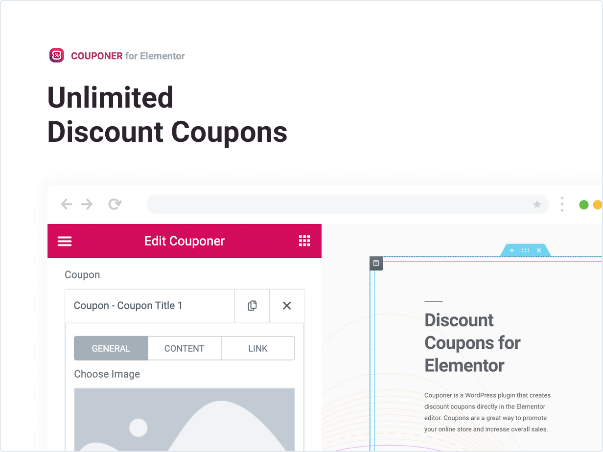 Couponer ¨C Discount Coupons for Elementor by merkulove