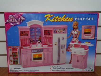 barbie size dollhouse furniture set. Barbie Size Dollhouse Furniture - My Fancy Life Kitchen Play Set T