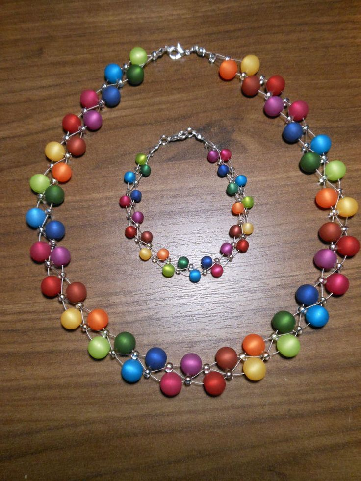 Nuevo conjunto de joyas único Polaris beads Polaris rainbow colorful blue chain pulsera … – Tilda Blogger