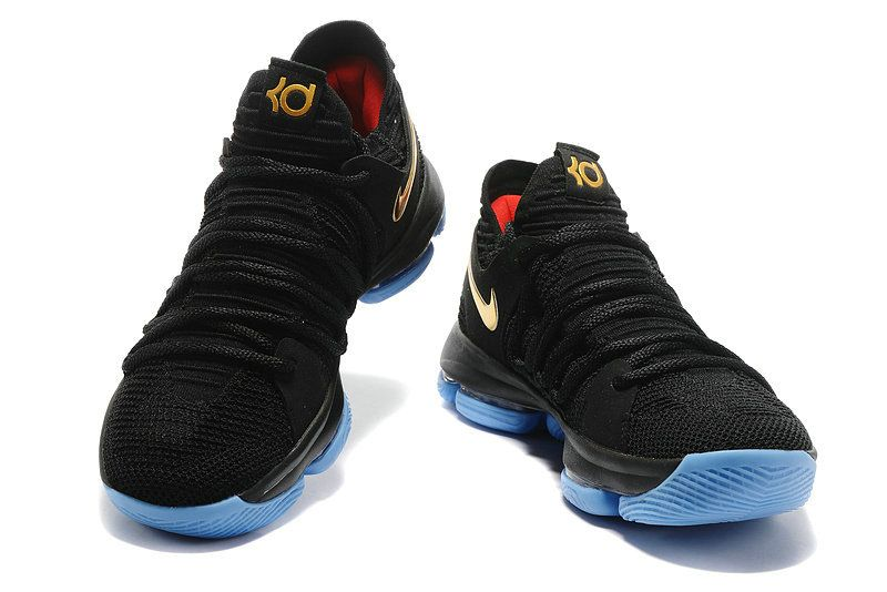 new arrival e68ac efe64 Original Nike KD 10 black Gold and Blue Red Flyknit EUR 40-47 Mens  Basketball
