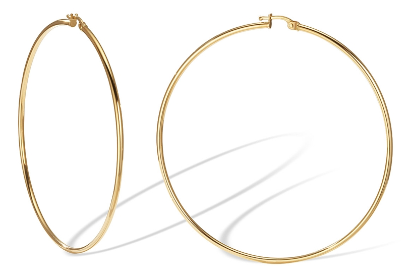2 1 14k Yellow Gold Extra Large Hoop Earrings Also