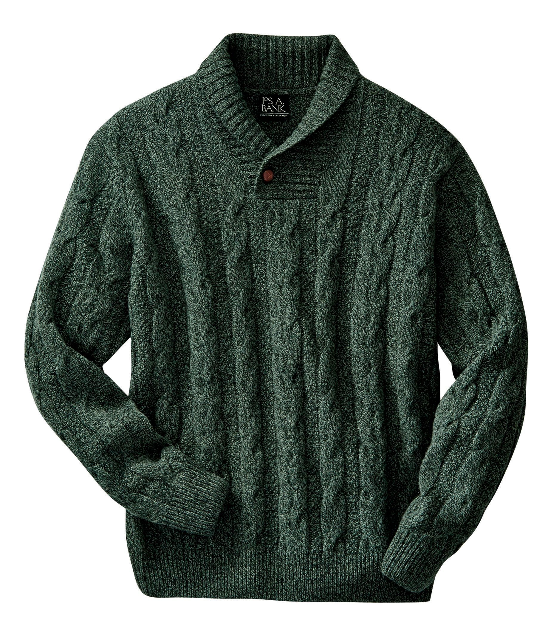 Check This Out Executive Collection Lambswool Shawl Collar Cable Knit Sweater From Jos A Bank Clothiers Sweaters Cable Knit Sweaters Shawl Collar Sweater