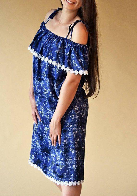 33600554cf2 Dana breastfeeding blue dress Oversize nursing blue dress Maternity dress  Breastfeeding gown Pregnan