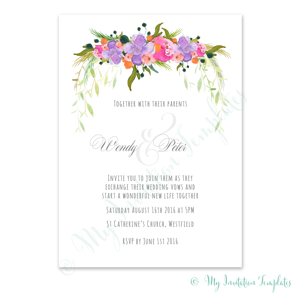 Flower Wedding Invitations 015 - Flower Wedding Invitations