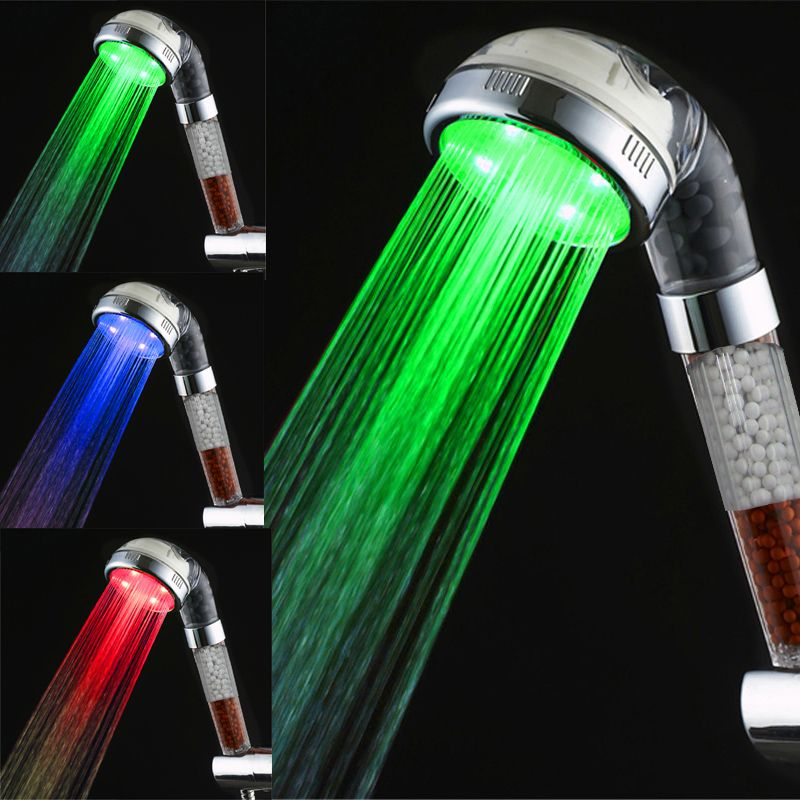 Anion Spa healthy multi-function color changing led shower head without  package | Led shower head, Shower heads, Bathroom fixtures