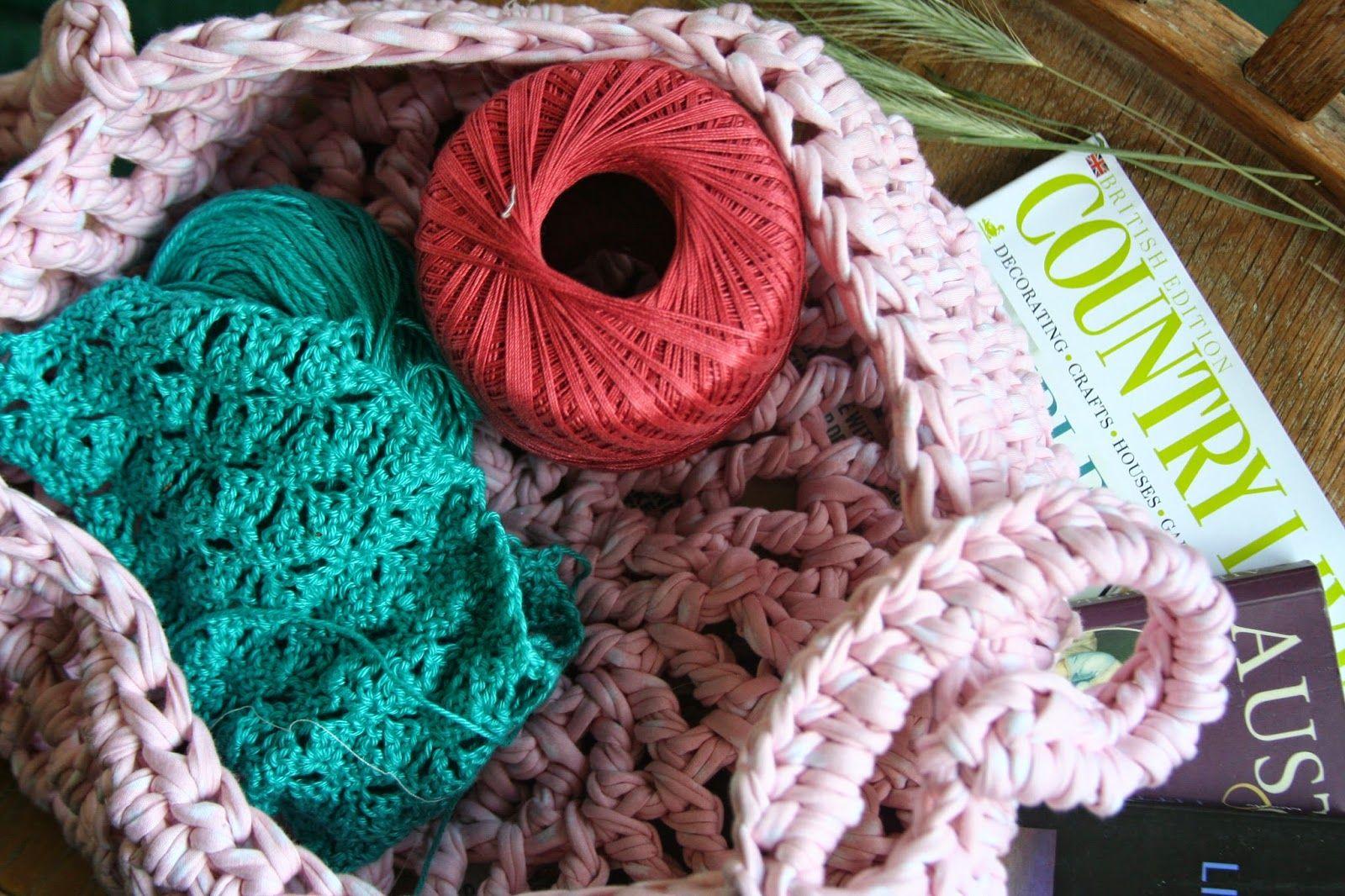 ViaJoy: Zpagetti Crochet Basket