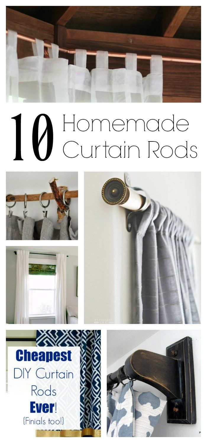 Cheap Finials For Curtain Rods 10 Homemade Curtain Rods You Can Make For The Home Diy