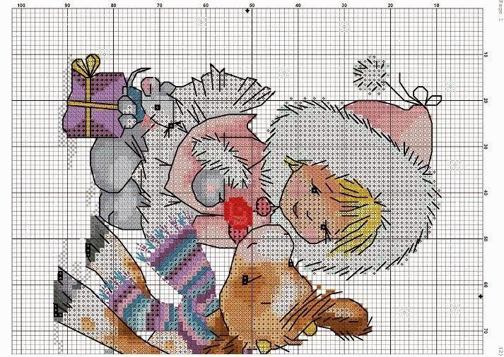 Bonito gráfico de una niña con un reno...