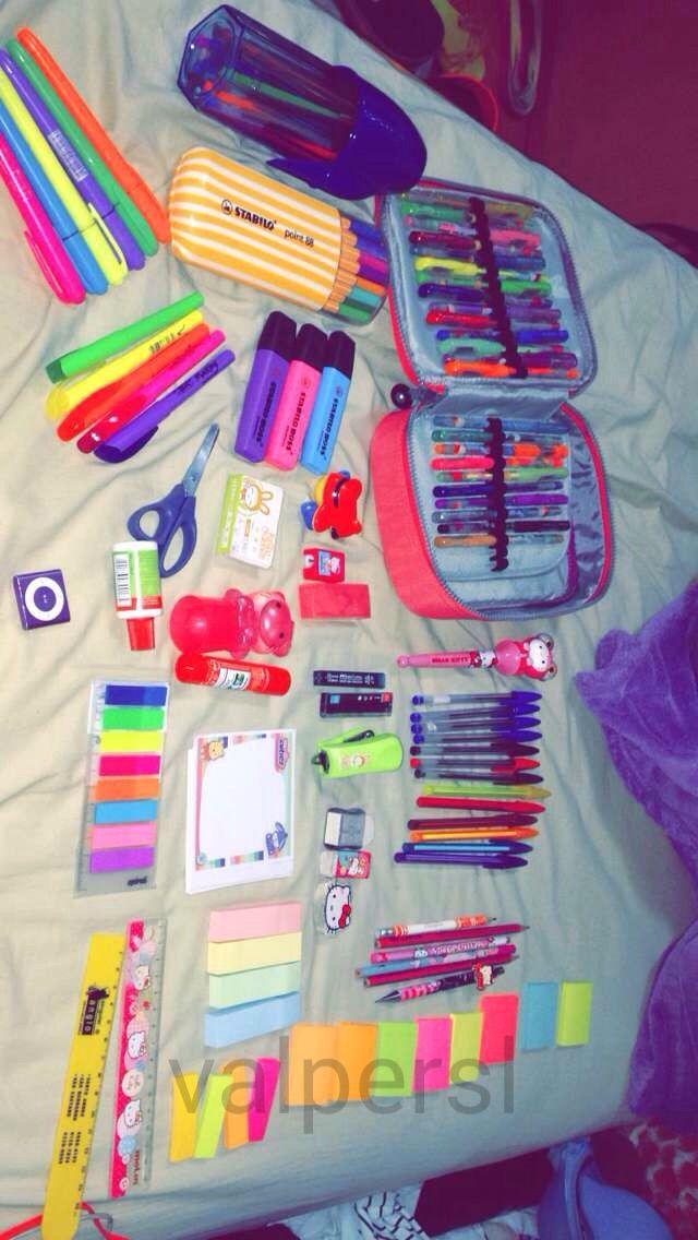 Coisas de escola | Coisas de papelaria, Materias escolares e