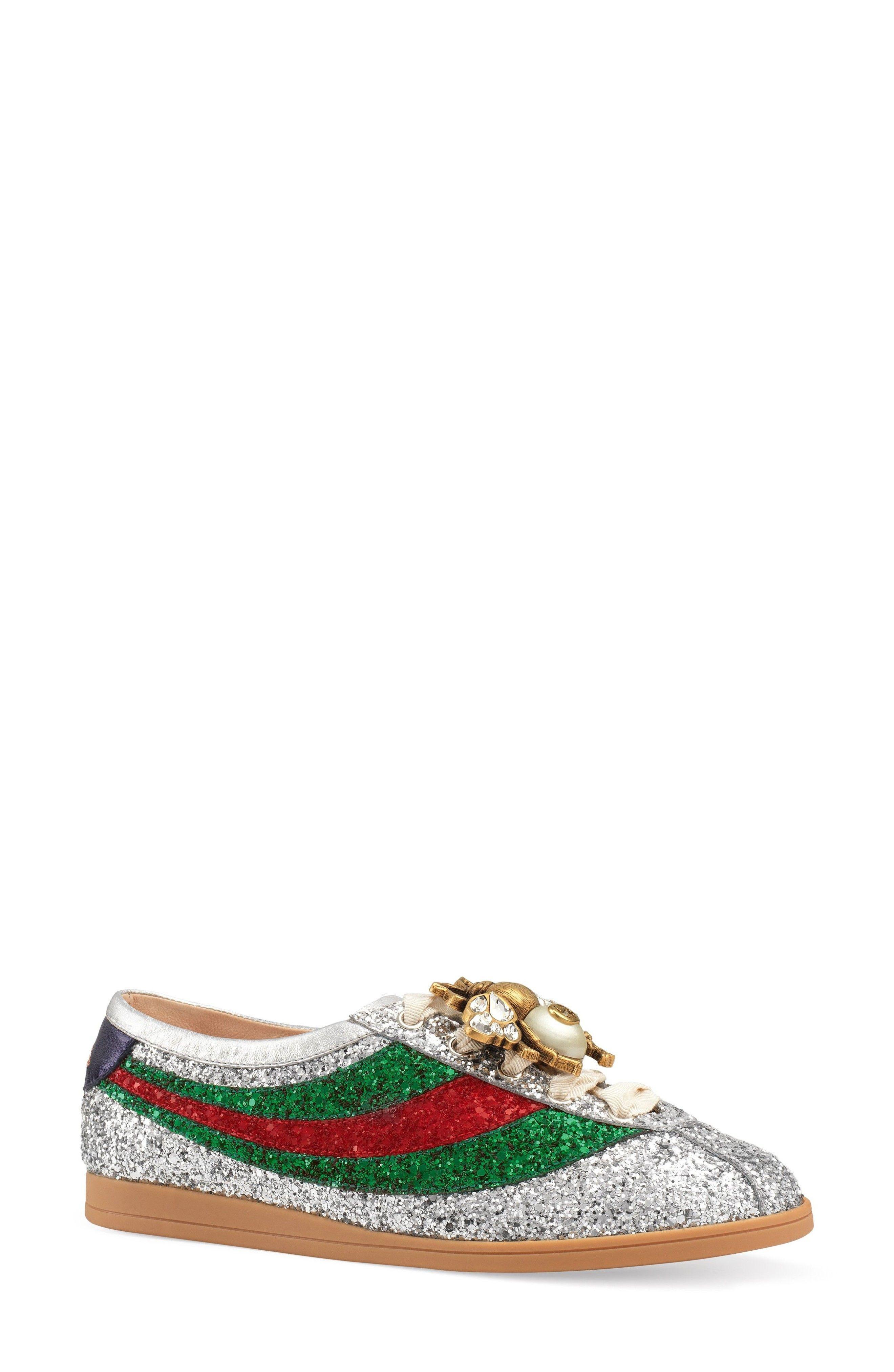 Buy GUCCI Falacer Glitter Sneaker online. New GUCCI Shoes.   1100  SKU  KRHN95926ROWR33764 e8e610729