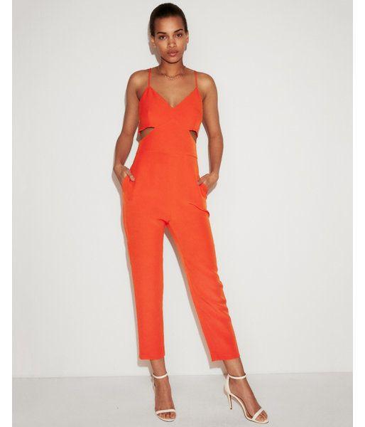 afc47ebd5dc Side Cut-Out Jumpsuit Orange Women s XXS