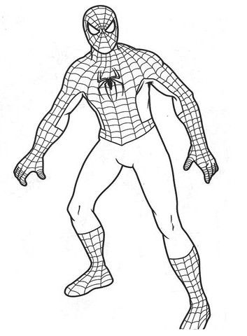 best 15 spiderman coloring pages page free printable simple for cutecoloringpages