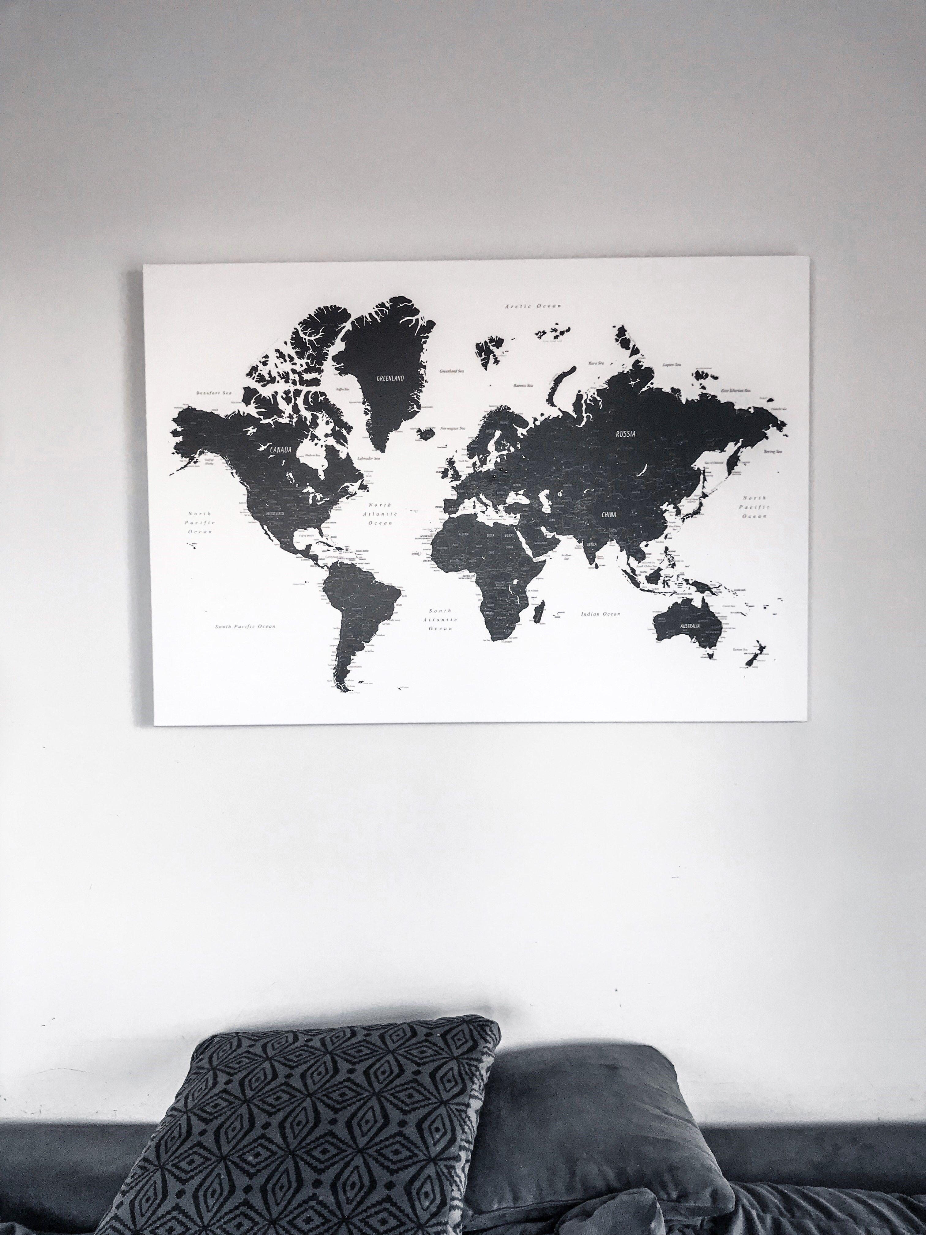 Pinnwand Weltkarte Reise