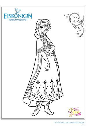Frozen Ausmalbilder 2015 Anna 01 Disney Prinzessin Malvorlagen Malvorlage Prinzessin Ausmalbilder