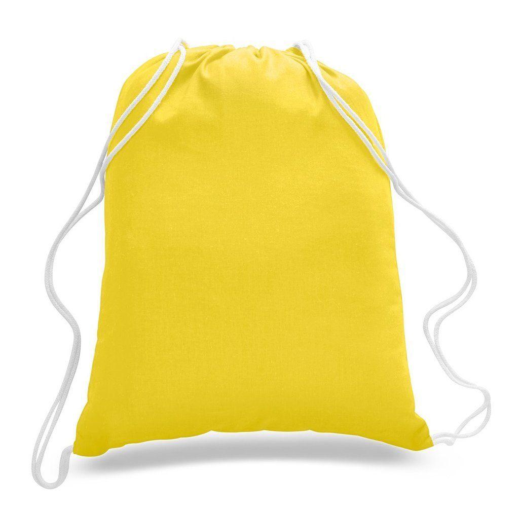 e73c6b4e80e6 Budget Friendly Sport Cotton Drawstring Backpack, Medium Size, 2019 ...