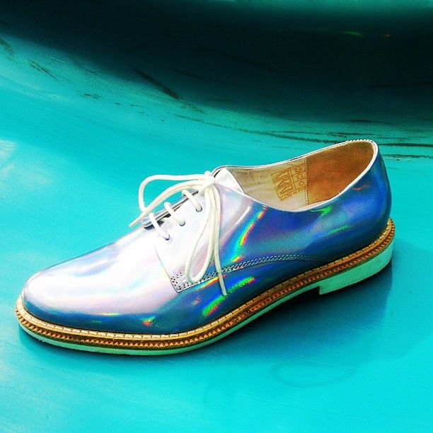 Get iridescent in the Zoe Brogue from @miistashoes, in store and online now!