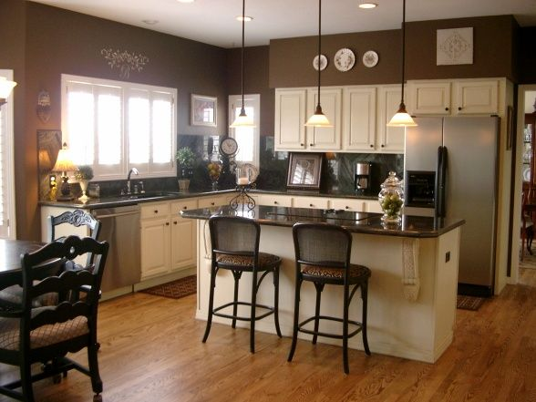 Best The Walls Are Benjamin Moore Rockies Brown The Cabinets 640 x 480