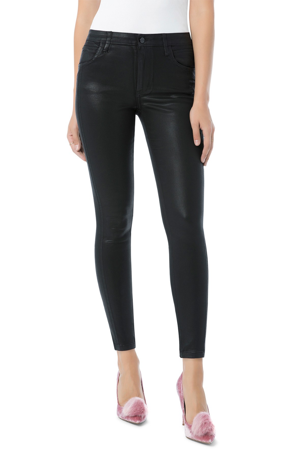 The Stiletto Ankle Skinny Faux Leather Jeans #nordstromrack