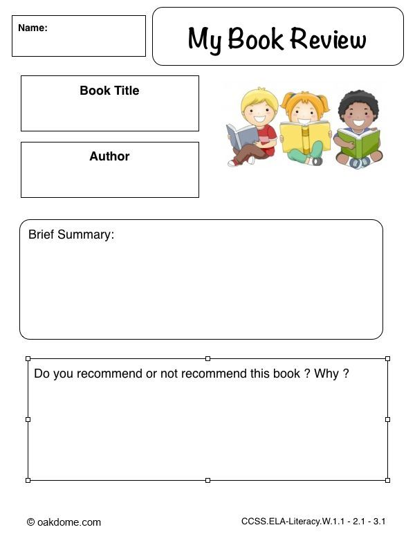 book review template for primary school - Google Search library - book report template for high school