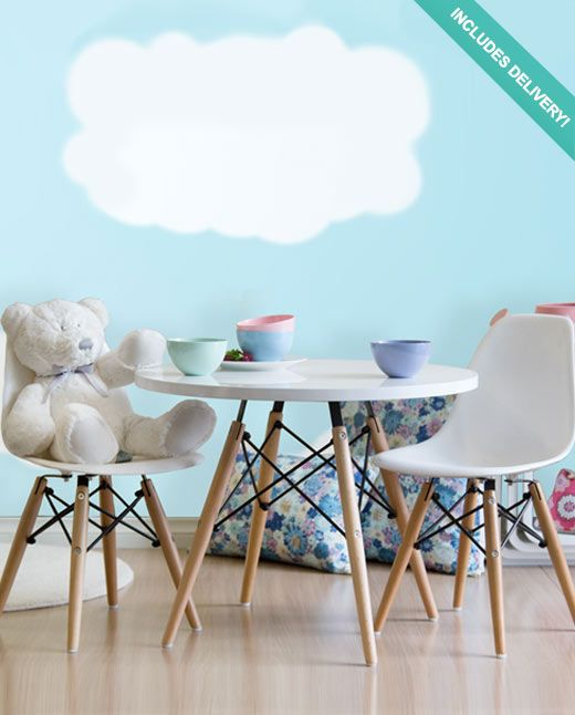 I Know It S A Bit Poncey But It S Really Cool Kids Eames Replica Table Chairs Set Eames Table Eames Kids Chairs