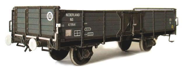 Dutch GLG Coal Wagon HO Scale - by Schaalbouw - Vagão De Carvão