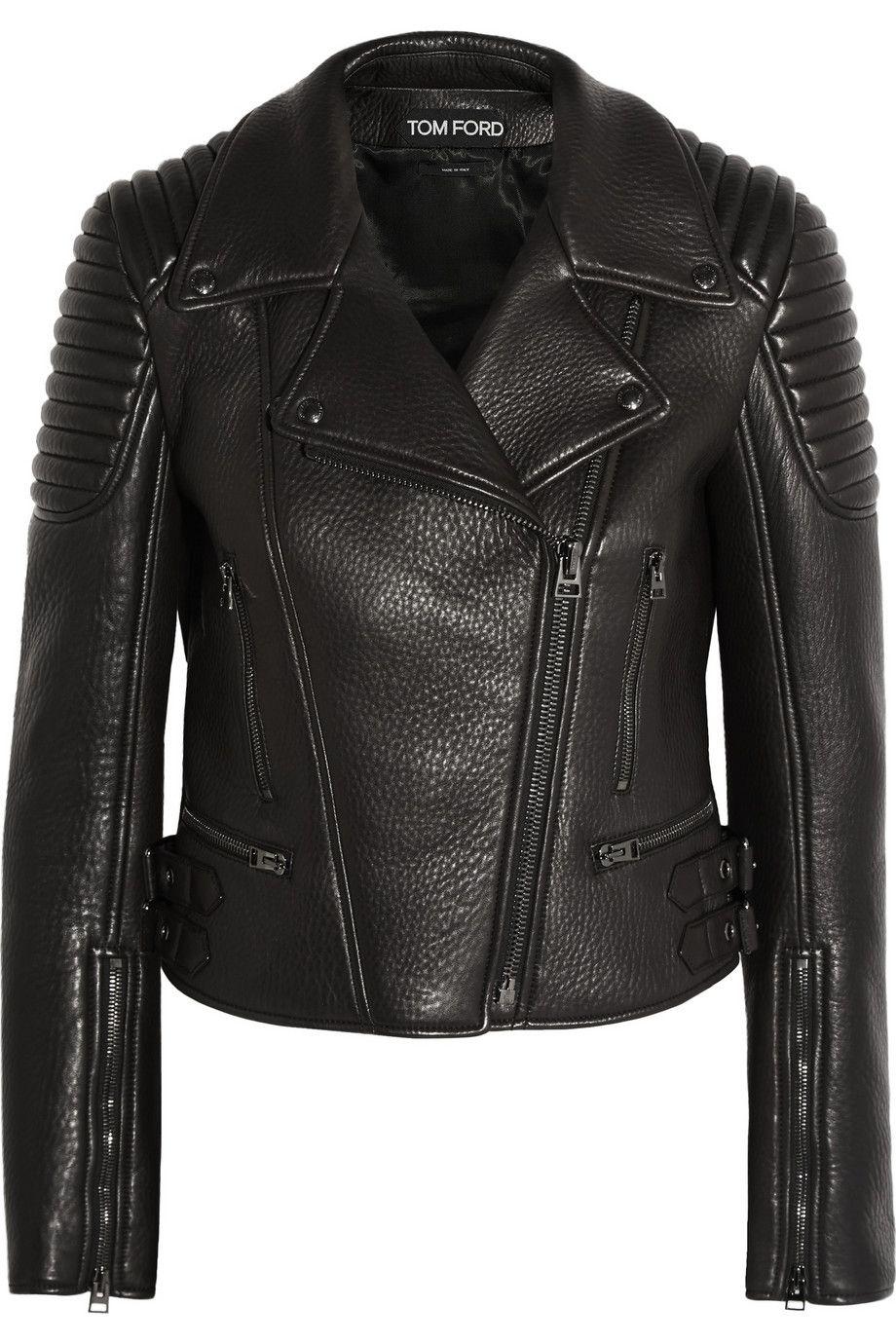 tom ford textured leather biker jacket net a porter. Black Bedroom Furniture Sets. Home Design Ideas
