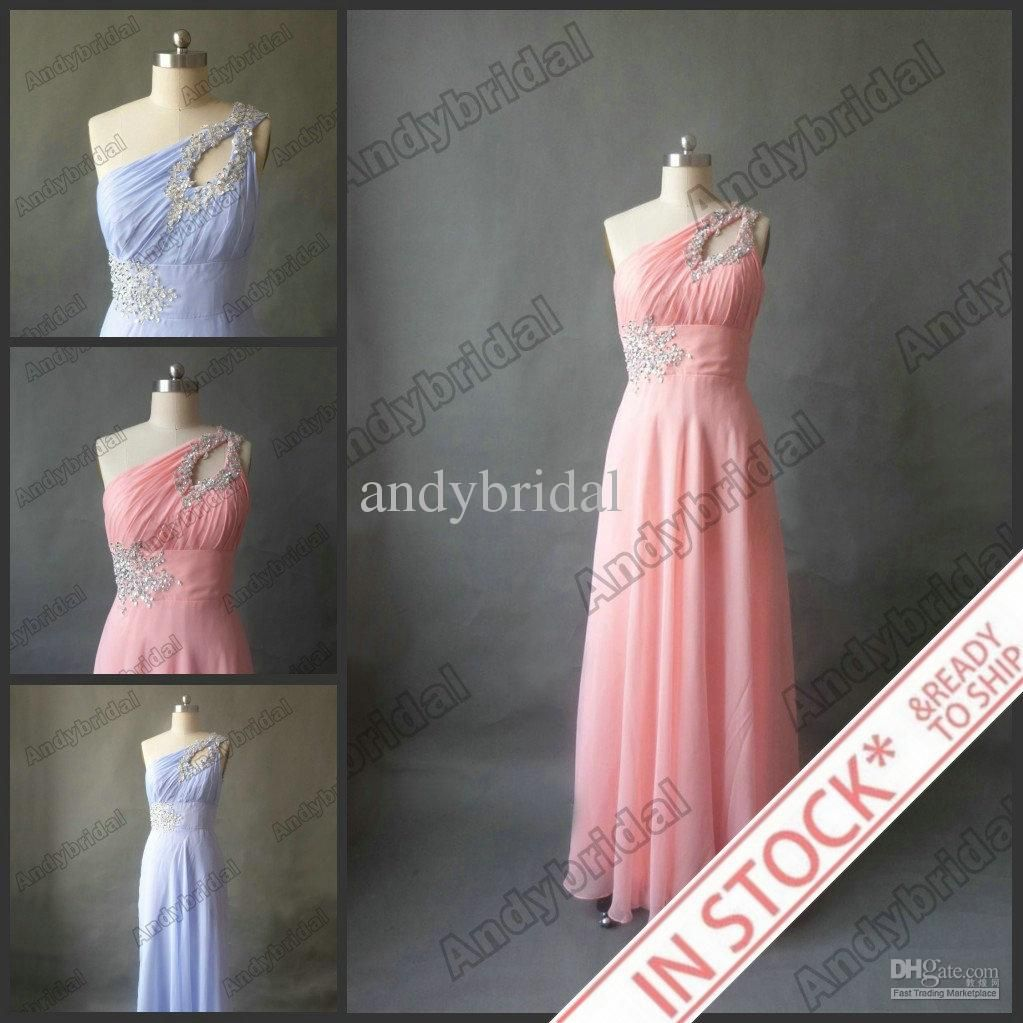 Wholesale In Stock Special Occasion Dresses - Buy In Stock 2012 Fashion A-line One-shoulder Long Chiffon Prom Dresses Evening Dresses For US Size 2-16, $75.0   DHgate