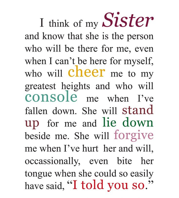 I Love Quotes For Sisters | Love My Sister Quotes