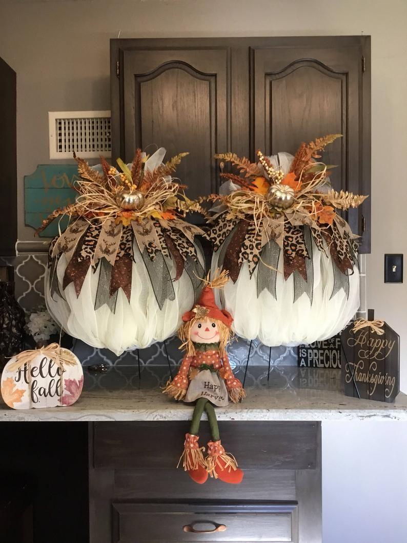 Fall Pumpkin Wreath Harvest Pumpkin WreathAutumn P