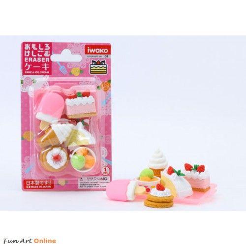 Iwako Erasers Blister Pack