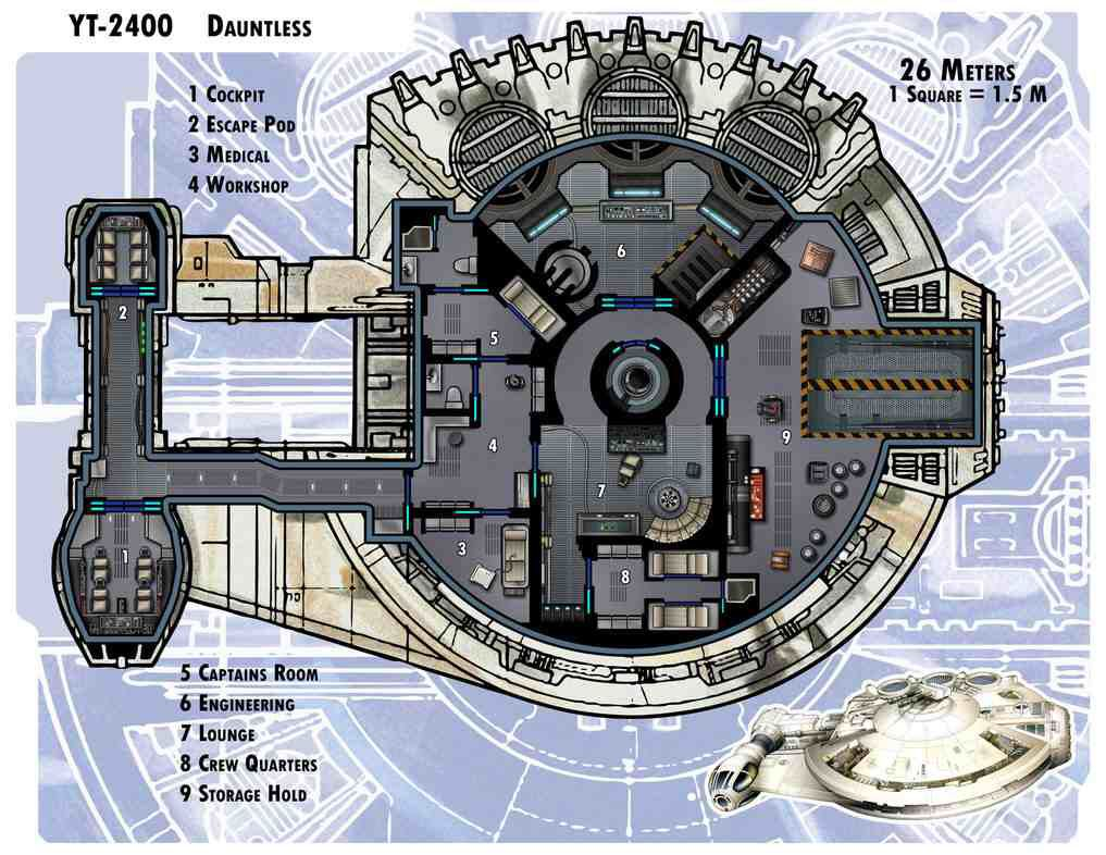 Delightful Star Wars Ship Floor Plans Part - 1: Dauntless By Thedarkestseason Cool Looks Like The Same Ship Design As The  Millennium Falcon! Well They Are Both Corelian Ships After All.