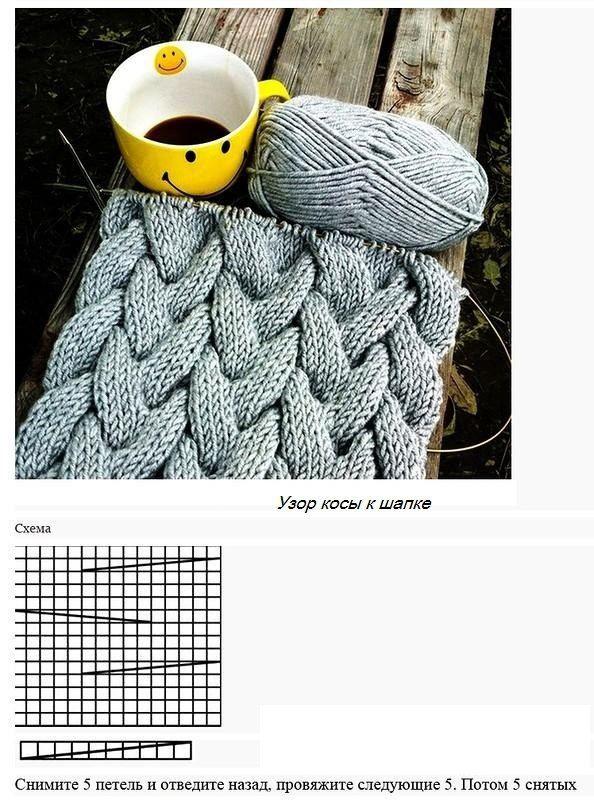 krasivaea-shapka-foto1.jpg (594×800) | Спицами | Pinterest