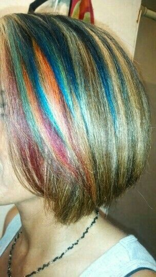 I miss my rainbow hair.