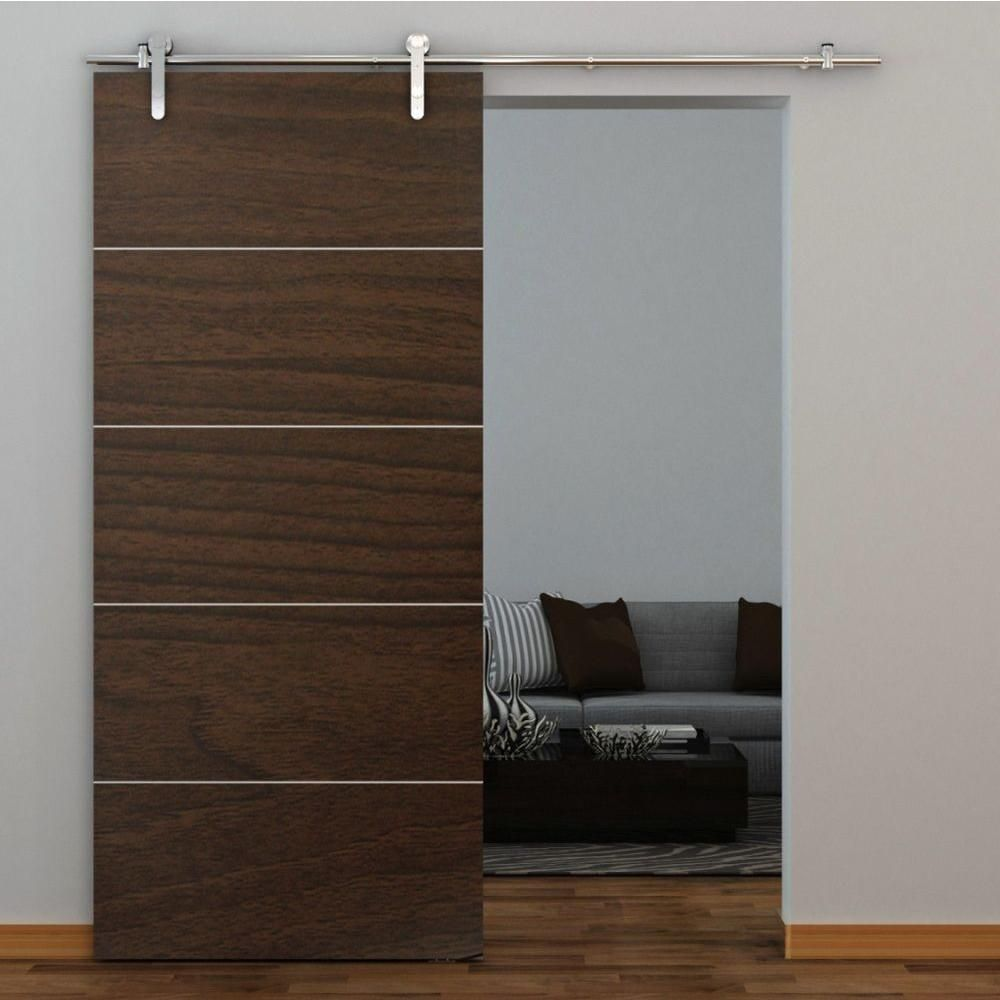 Everbilt 72 In Stainless Steel Sliding Barn Door Track And