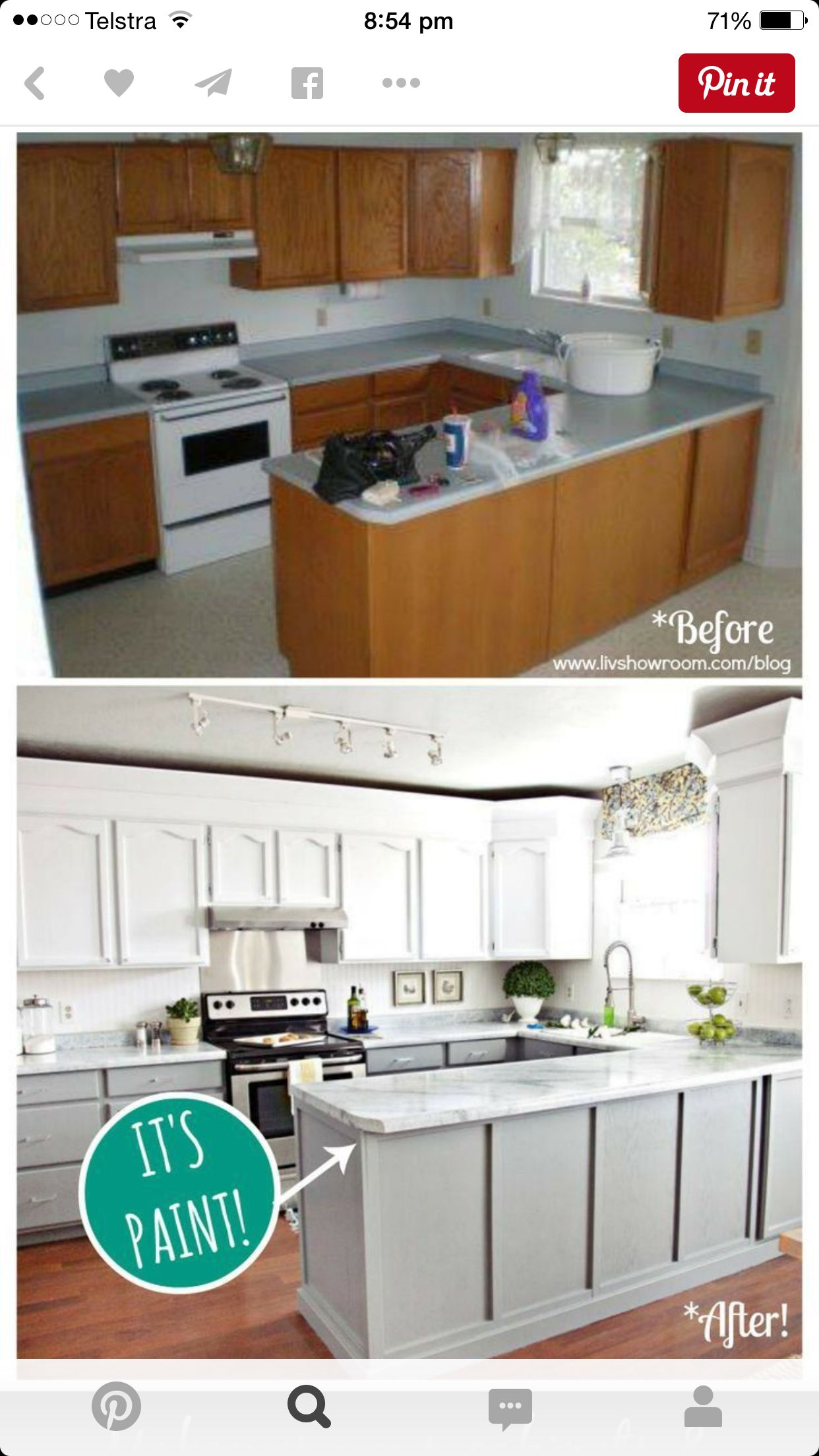 Cheap Reno On Kitchen Layout Is The Key I Think To Be Able To Transform On A Budget See How No Updated Kitchen Kitchen Cabinets Makeover Kitchen Renovation