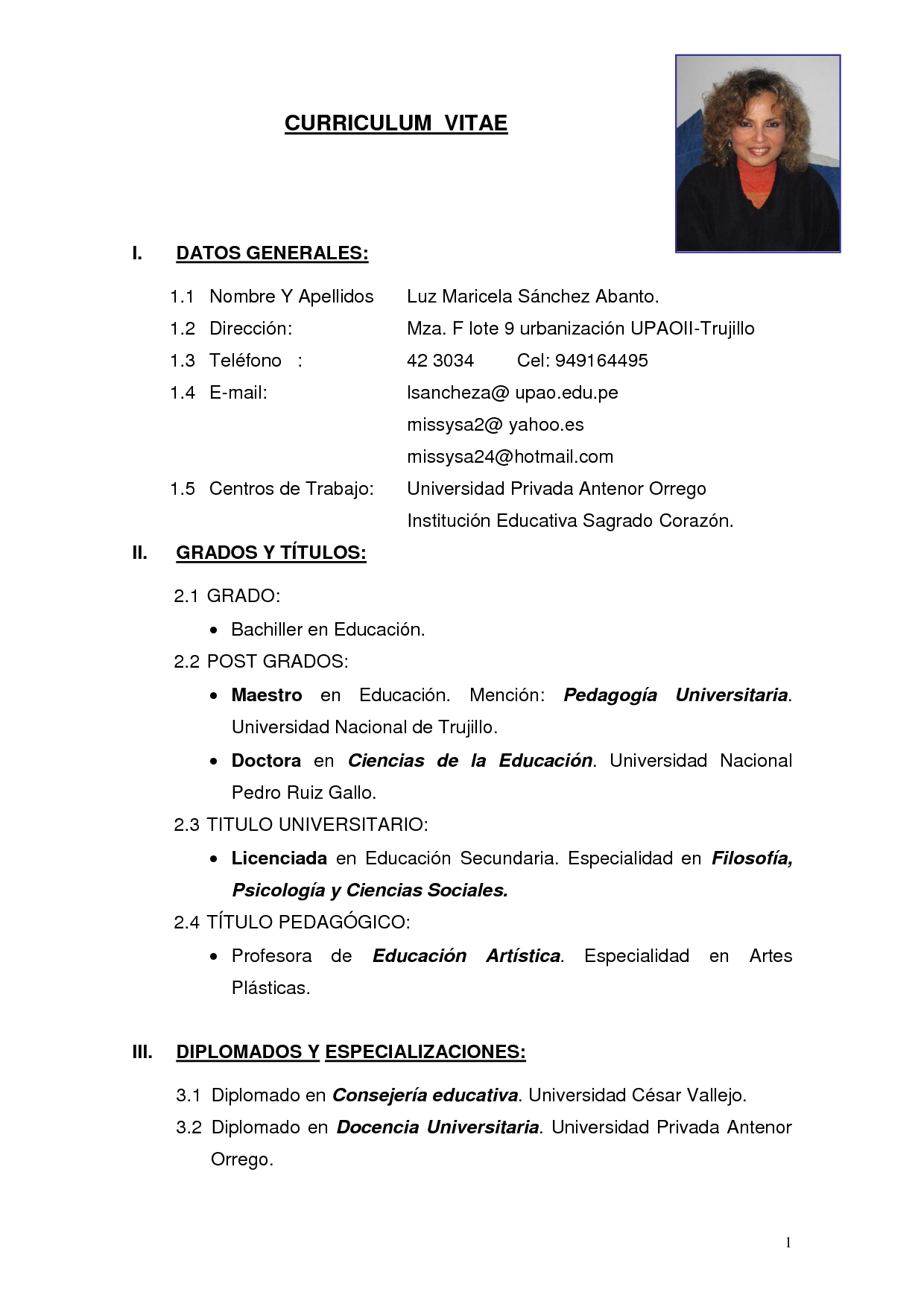 Simple Peru | datos | Pinterest | Curriculum vitae simple, Modelos ...