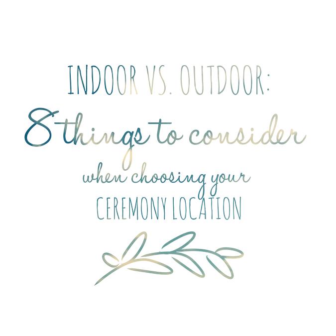 Outdoor Wedding Ceremony Calgary: Indoor Vs Outdoor: 8 Things To Consider When Choosing Your