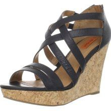Miz Mooz Women's Kiara Wedge Sandal,Black...like