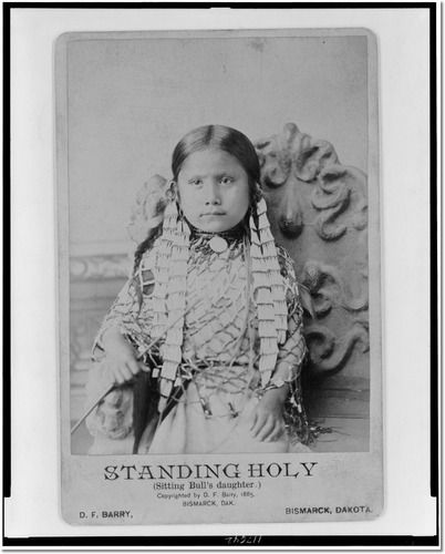sitting bull pictures | Standing Holy (Sitting Bull's daughter) by Barry, D. F. (David Francis ...