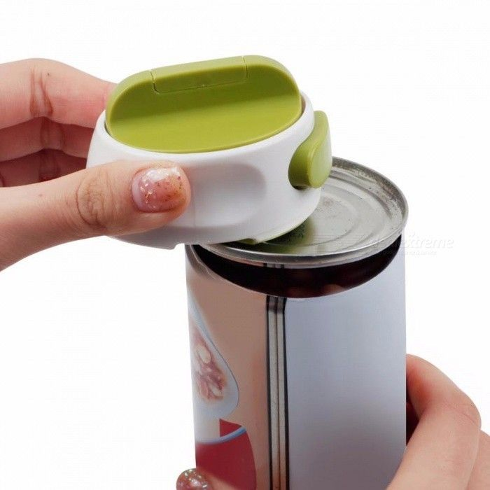 Round Can Opener Stainless Steel Easy Manual Rotation Canned Fruit Luncheon Meat Non-slip Jar Openers Kitchen Tools Army Green   - Cocina -