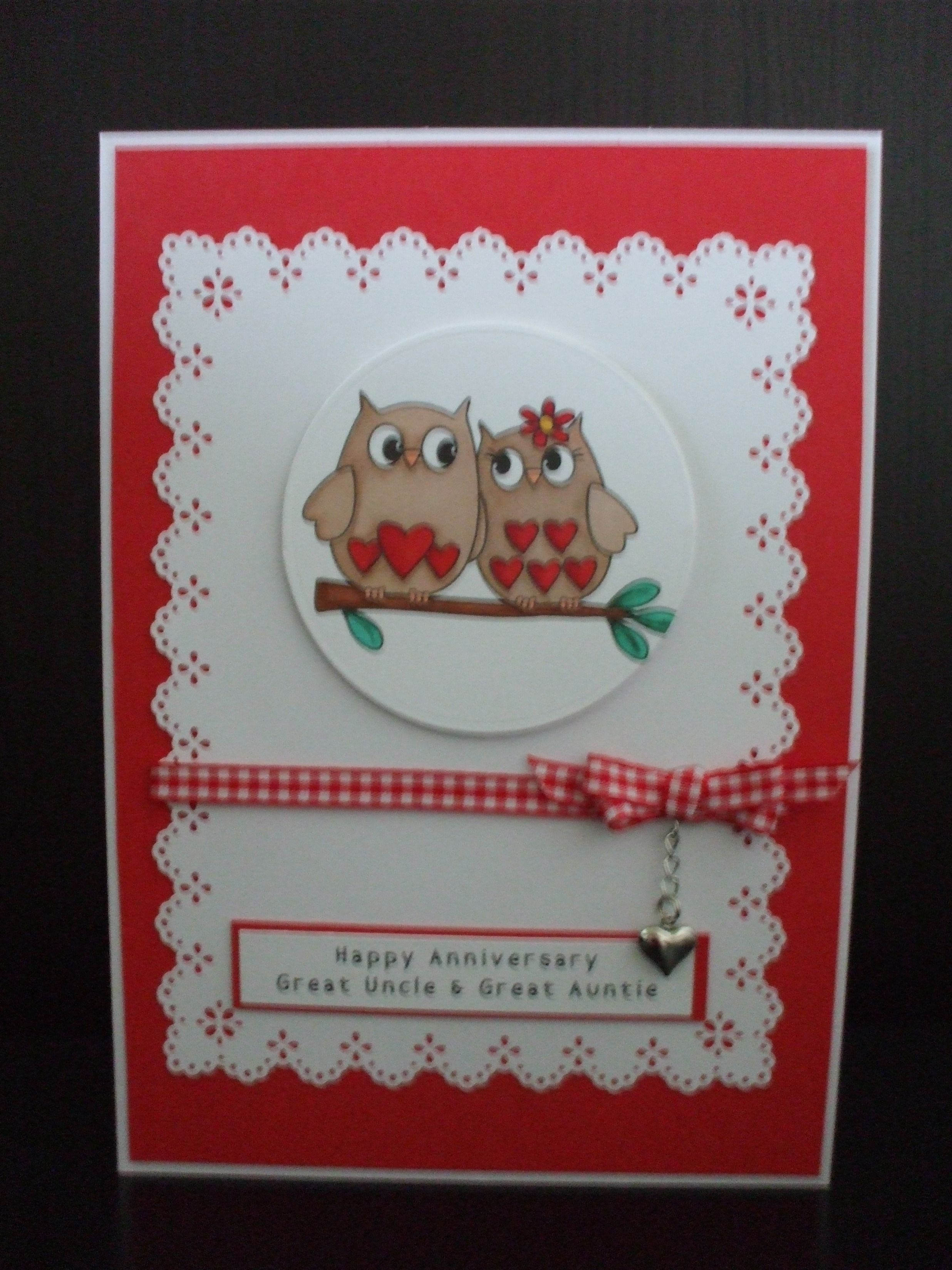 Making Anniversary Cards Ideas Part - 30: Handmade Anniversary Card, Digistamp Boutique Image - Love Owls