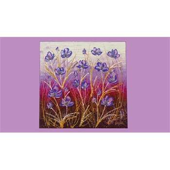 """Quadri floreali. """"fiori di lavanda e ranuncoli moderni"""" il quadro ..."""