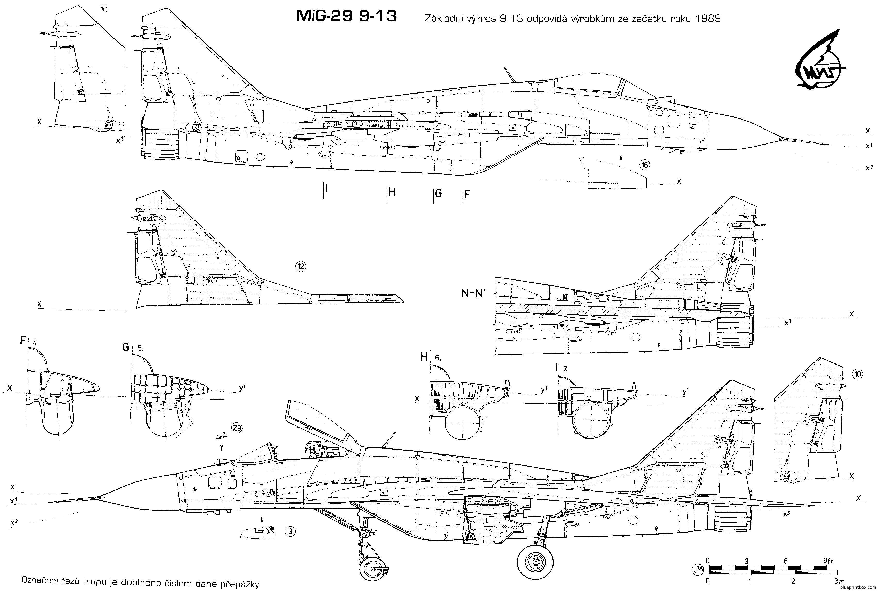 Mikoyan Gurevich Mig 29 - Blueprintbox Com