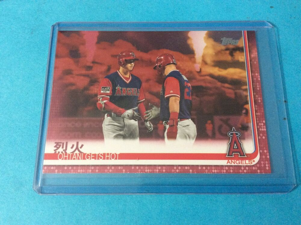 2019 Topps Series 2 Ohtani Gets Hot Pink Mothers Day Parallel Card