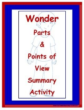 Wonder Parts And Points Of View Summary Activity Summary Activities Teaching Wonder Point Of View